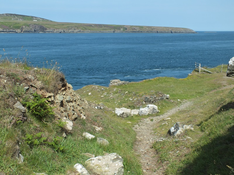 Treginnis headland on Pembs Coastal Path, most western point in Wales UK. Treginnis Holiday Cottages