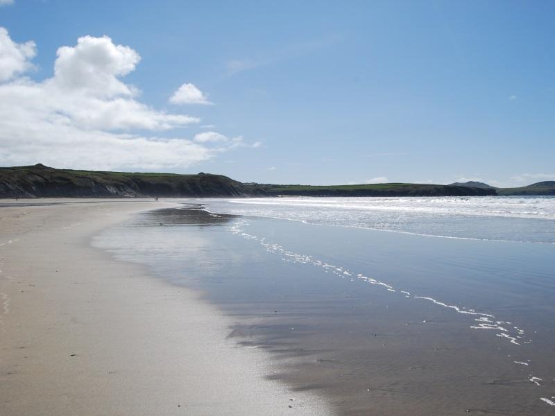 Whitesands beach near St Davids Pembrokeshire Wales