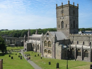 St Davids Cathedral, Pembrokeshire, West Wales UK