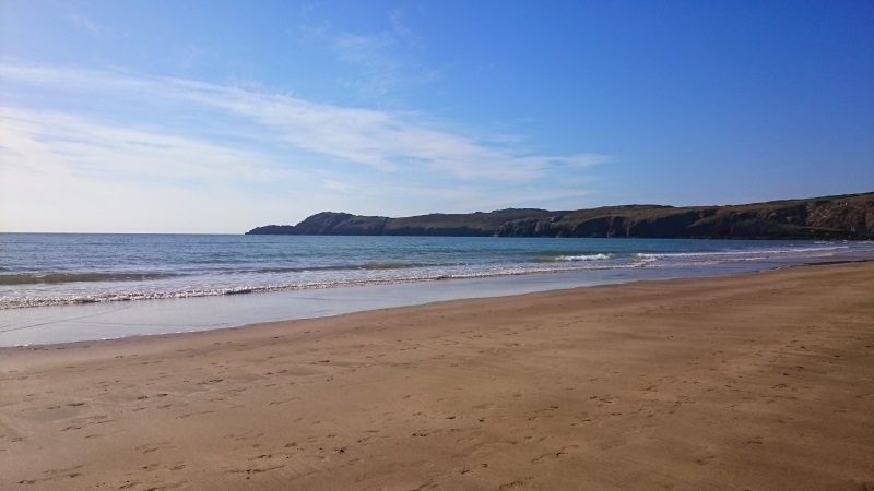 Sandy Whitesands beach is a superb mile-long stretch which flies the European Blue Flag.  If you're looking for things to do in St Davids, this spot is ideal for bathing, surfing, canoeing and most type of water sports.