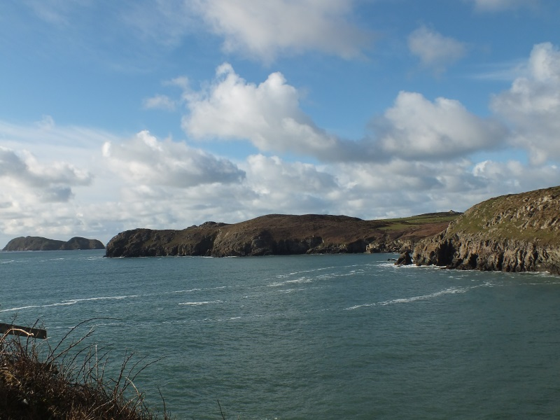 Enjoy walking the Pembrokeshire Coastal Path at Treginnis headland, St Davids